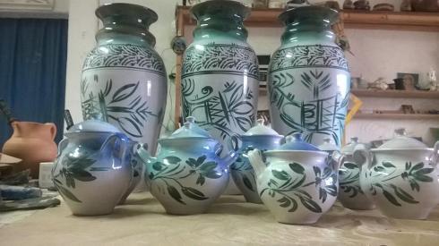 pinturas em ceramica de fernando