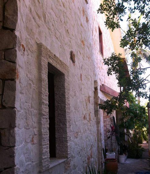 vista laterial mansão