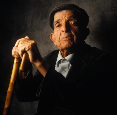 1991, Sardinia, Italy --- Old Sardinian Man --- Image by © William Coupon/Corbis