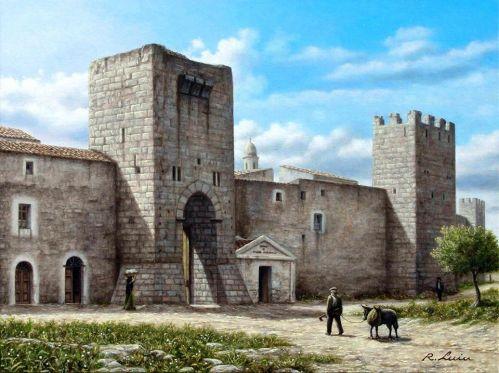 SASSARI - Antica Porta Sant'Antonio - olio su tela cm. 40x30