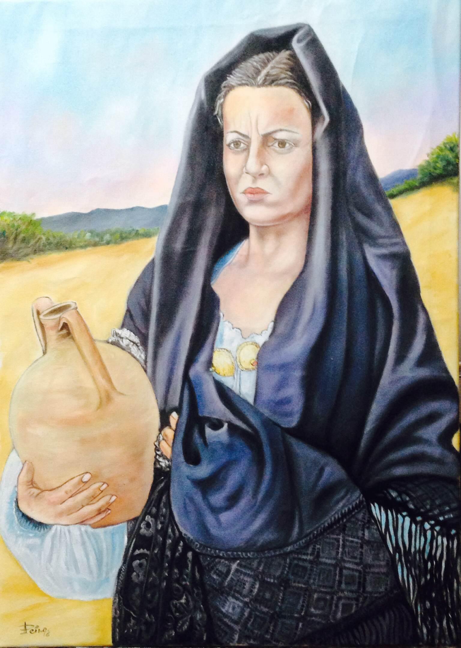 Donna con brocca